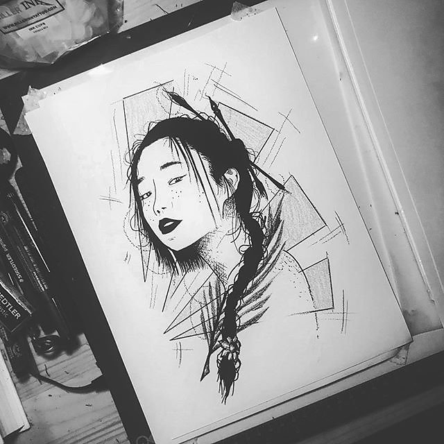 Dernier dessin sur ma série de de portrait