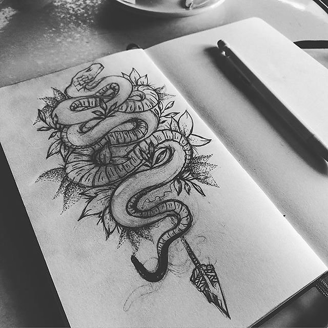 My little snake & coffee , dark tattoo available  ! .